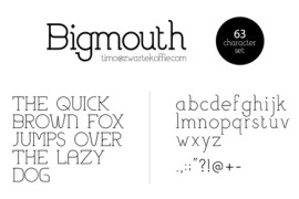 Bigmouth字体下载