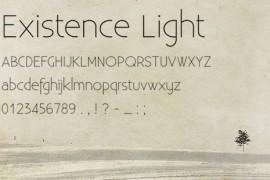 Existence Light 字体下载