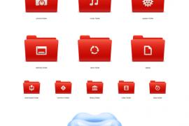免费的苏打红的Mac OS图标