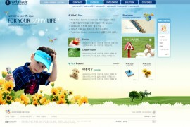 儿童娱乐网站模板下载