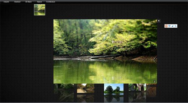 3d 旋转木马样式的图片展示系统