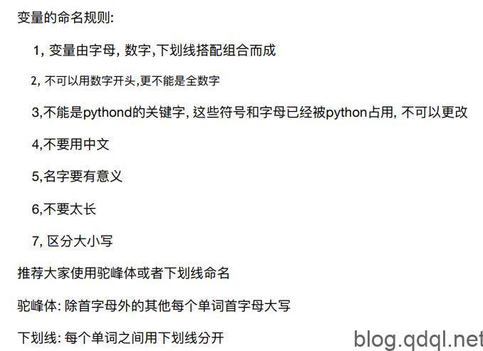 Python 变量命名规则